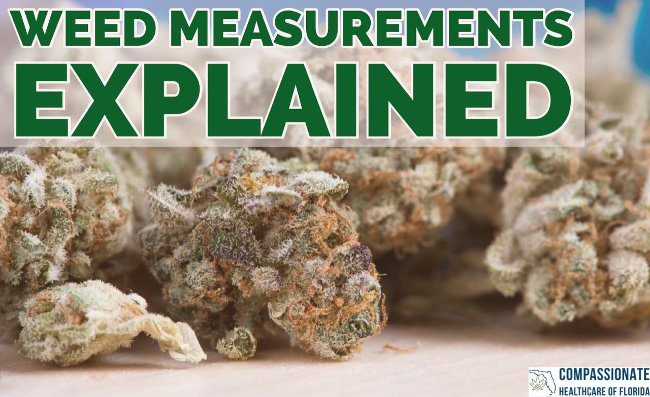 Weed Measurments